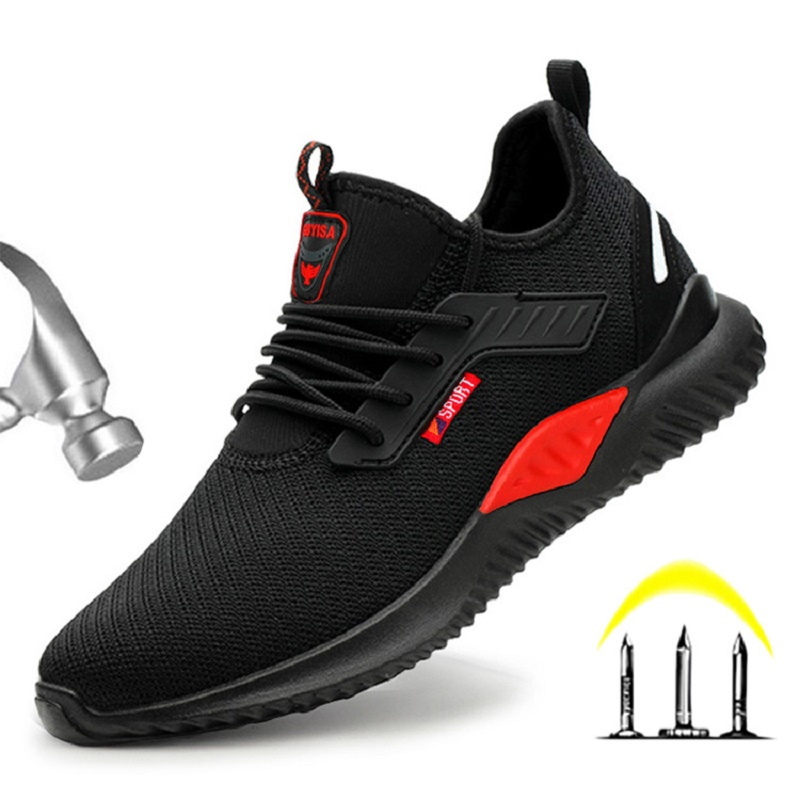 Indestructible Shoes Men Safety Work Boots Steel Toe Cap Safety Shoes Work Sneakers Anti-smashing Work Shoes Male Dropshipping