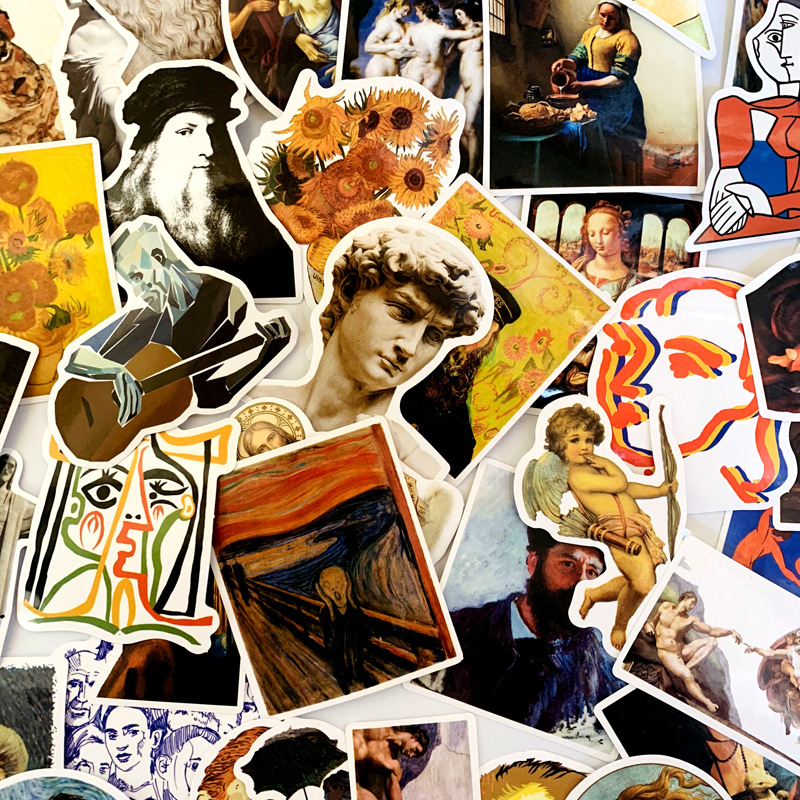 50 PCS DAVID Stickers For Kids Laptop Car Decal Fridge Skateboard Rock Music Sticker Toy Stickers