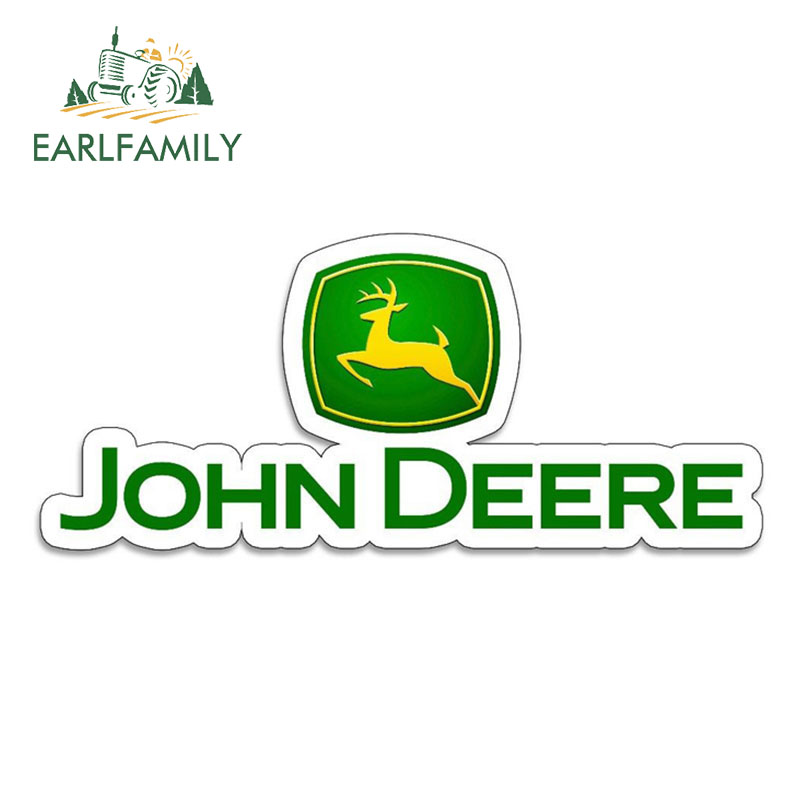 EARLFAMILY 13cm X 5.6cm Vinyl Stickers For JOHN DEERE Farm Tractor Gator Farming AUTO MOTO Car Tuning Side Stickers Funny Decal