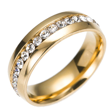 2020 Men Women Cubic Ziron Rings 3 Colors Stainless Steel 8mm Classic Wedding Ring For Men Women Jewelry Gift