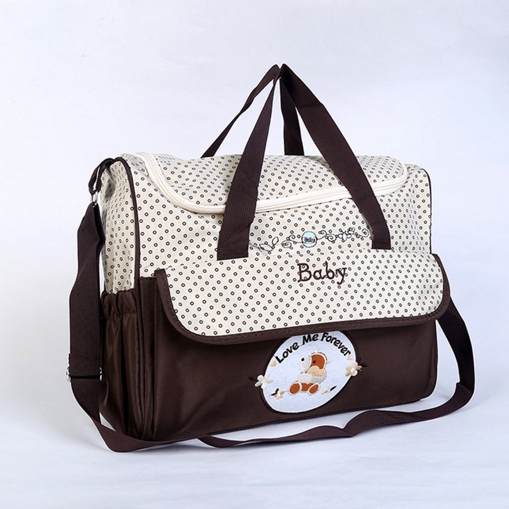 Large Capacity 39x18x30CM 4pcs Baby Diaper Bag Suits For Mom Baby Bottle Holder Mother Mummy Stroller AMaternity Nappy Bags Sets