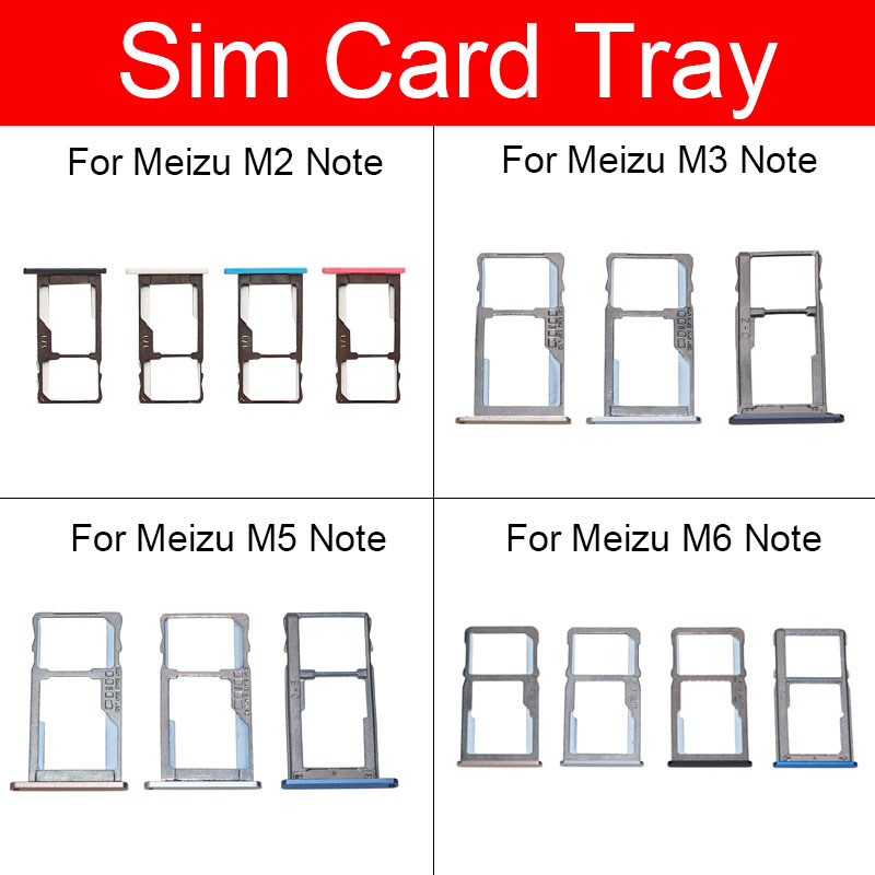 <font><b>Sim</b></font> Card <font><b>Tray</b></font> Holder For <font><b>Meizu</b></font> Meilan <font><b>M2</b></font> M3 M5 M6 <font><b>Note</b></font> M571c <font><b>Sim</b></font> Micro Reader Card Slot Adapters Socket Replacement Repair Parts image