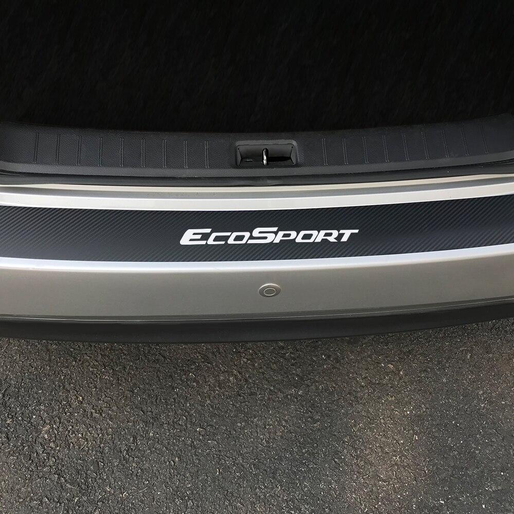 Протектор из углеродного волокна, наклейки на крышку педали порога автомобиля Ford Ecosport, защитная пластина БАГАЖНИКА АВТОМОБИЛЯ, аксессуары ...