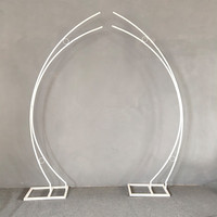 Wedding props moon archway flower decoration iron frame wedding stage butterfly curved hook arranged welcome area