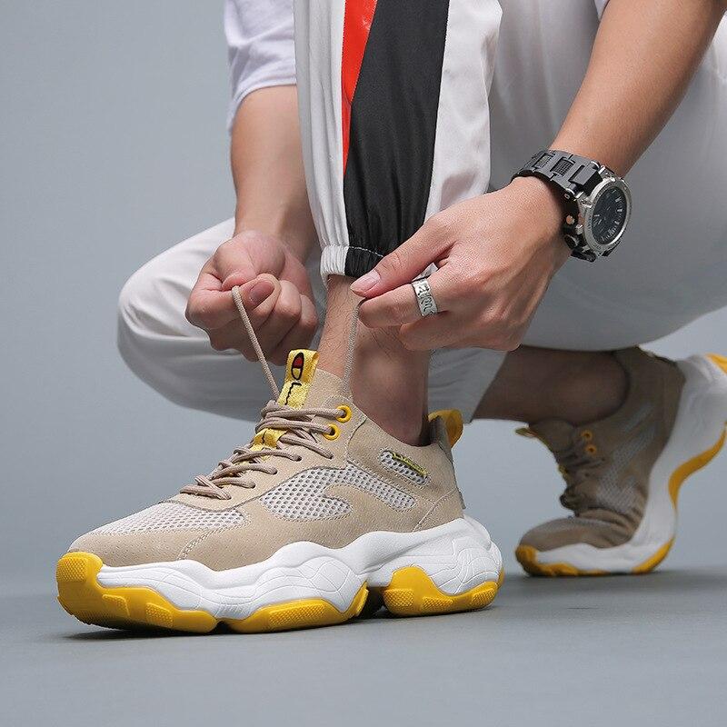 Autunno Scarpe da uomo di Sport 2019 Nuova Tendenza Coreana di Sport di Rete Rosso Studenti di Età Scarpe Da uomo Marea Scarpe Da Uomo Scarpe scarpe da ginnastica di Casual