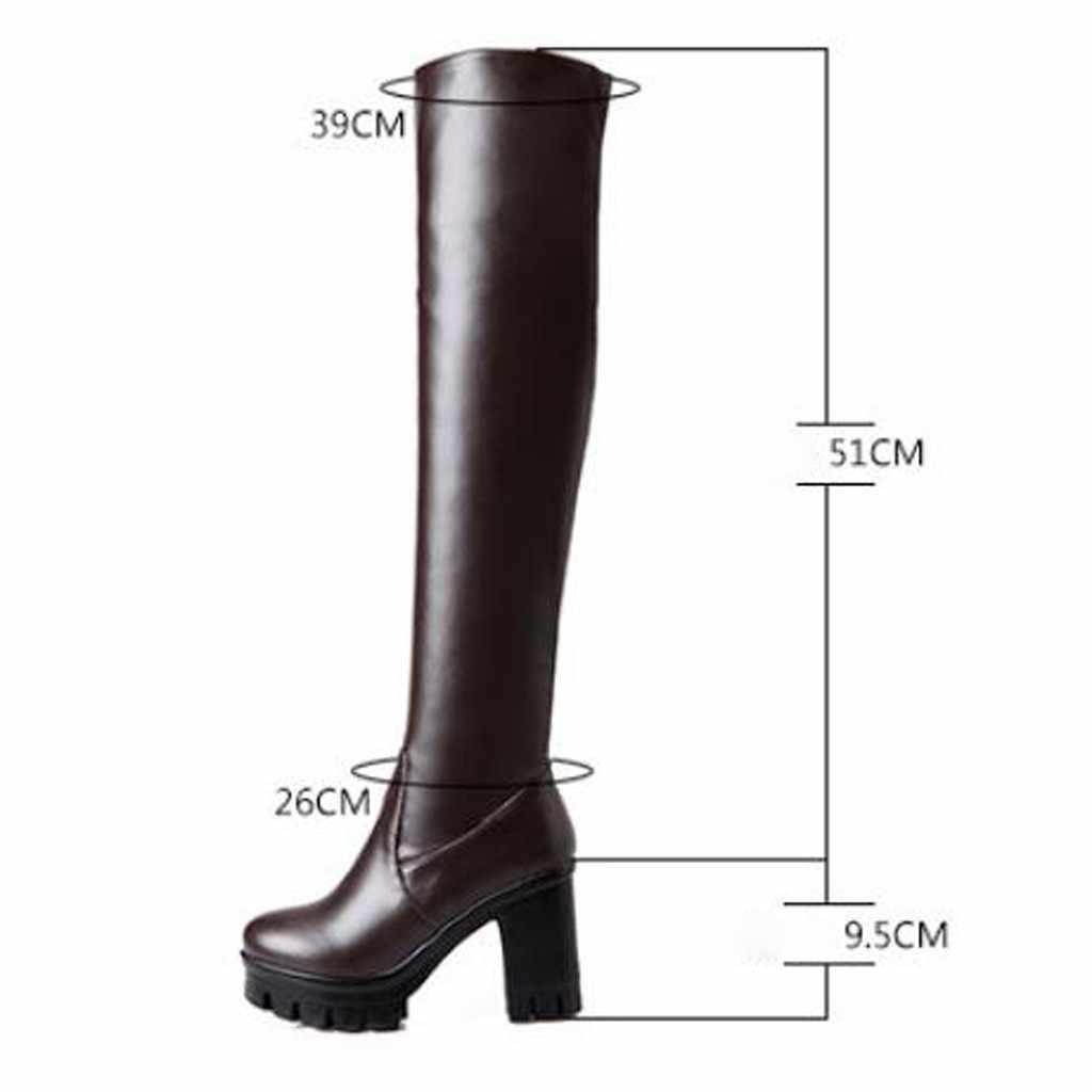 Winter Frauen Oberschenkel Hohe Stiefel Kurze Plüsch Warm Über-die-knie Stiefel Sexy Super High Heels Schwarz Boot plattform Schuh Plus Größe 2020