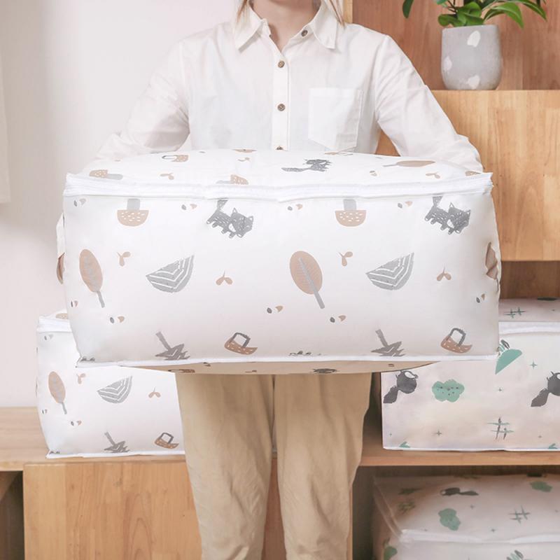 Foldable Storage Bag Clothes Blanket Quilt Organizer Stroage Bag Moisture-proof Travel Luggage Organizer Clothing Sorting Bag