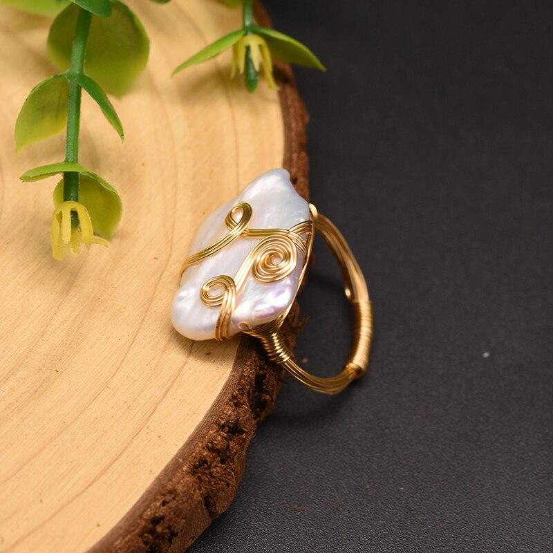 Оригинальный дизайн кольца glseevo с натуральным белым квадратным