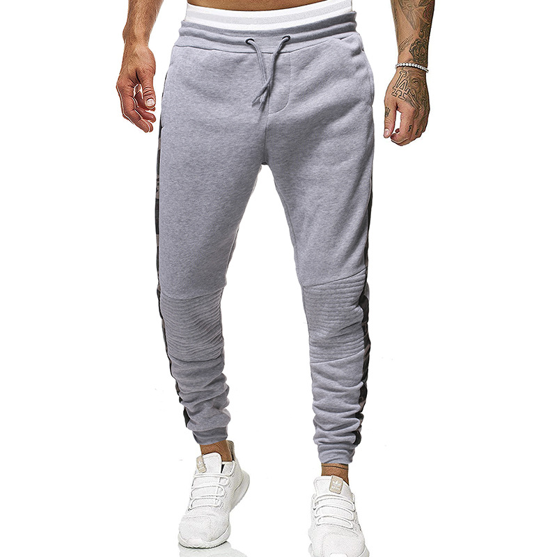 Speed Sell 2019 Autumn New Style Casual Pants Plus-sized Menswear Elastic Fashion Plaid With Drawstring Gymnastic Pants