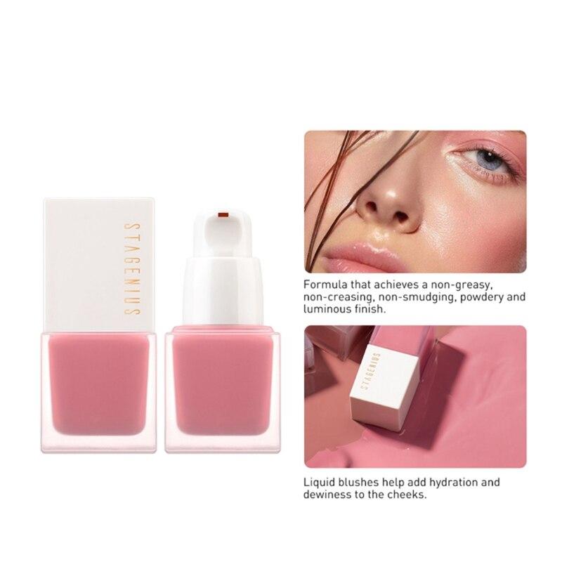 Горячая Распродажа, эффективные жидкие румяна, стойкие водонепроницаемые Румяна для макияжа, для осветления лица, коло, румяна