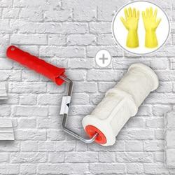 DIY wzór wałek do farby narzędzie poliuretanowe ochrona środowiska znaczek wałek dekoracyjny Cylinder naśladuj kamień na ból ściany w Zestaw narzędzi do malowania od Narzędzia na