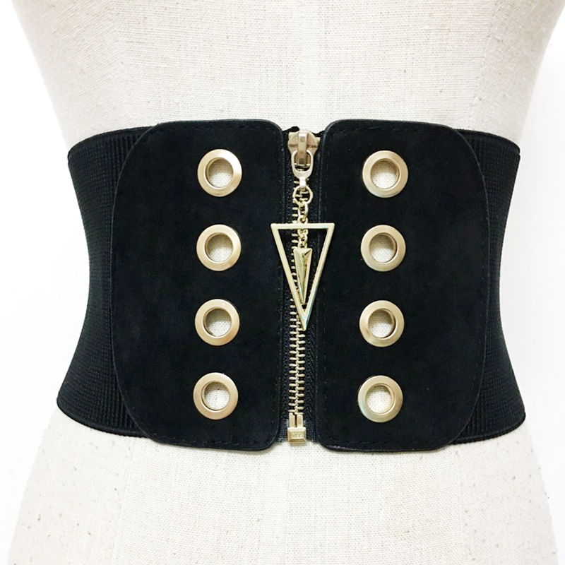 Plus Size Corset Belt Black Waist Belts For Women Wide Cummerbunds Fashion Designer Big Dress Elastic Ceinture Femme 2020