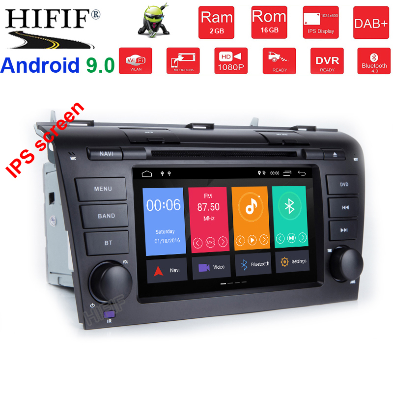 4+64G Android 9.0 auto <font><b>multimedia</b></font> <font><b>For</b></font> <font><b>Mazda</b></font> <font><b>3</b></font> mazda3 2004 2005 2006 <font><b>2007</b></font> 2008 2009 dvd player radio stereo wifi output BT USB image