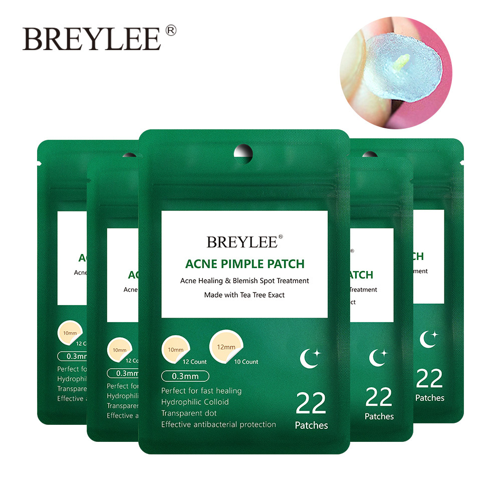 BREYLEE Acne Pimple Patch Acne Treatment Facial Mask Skin Care Anti-Acne Cream Blemish Spot Remover Tool Beauty Night Use 5PCS