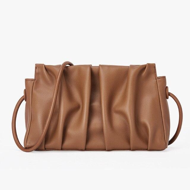 Новое поступление, сумка из натуральной кожи, сумка в виде облаков, Модный женский клатч, дизайнерская женская сумка через плечо, сумка высшего качества|Сумки с ручками|   | АлиЭкспресс