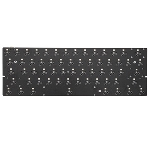 Image 1 - bm60rgb bm60 poker rgb 60% gh60 hot swappable Custom Mechanical Keyboard PCB program qmk full rgb switch underglow type c