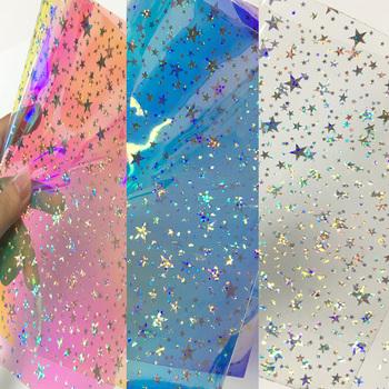 1 arkusz 15*25cm Laser Star Film biżuteria do torebki akcesoria gradientowe kolorowe filmy tanie i dobre opinie Other 30cm Ocena biżuteria