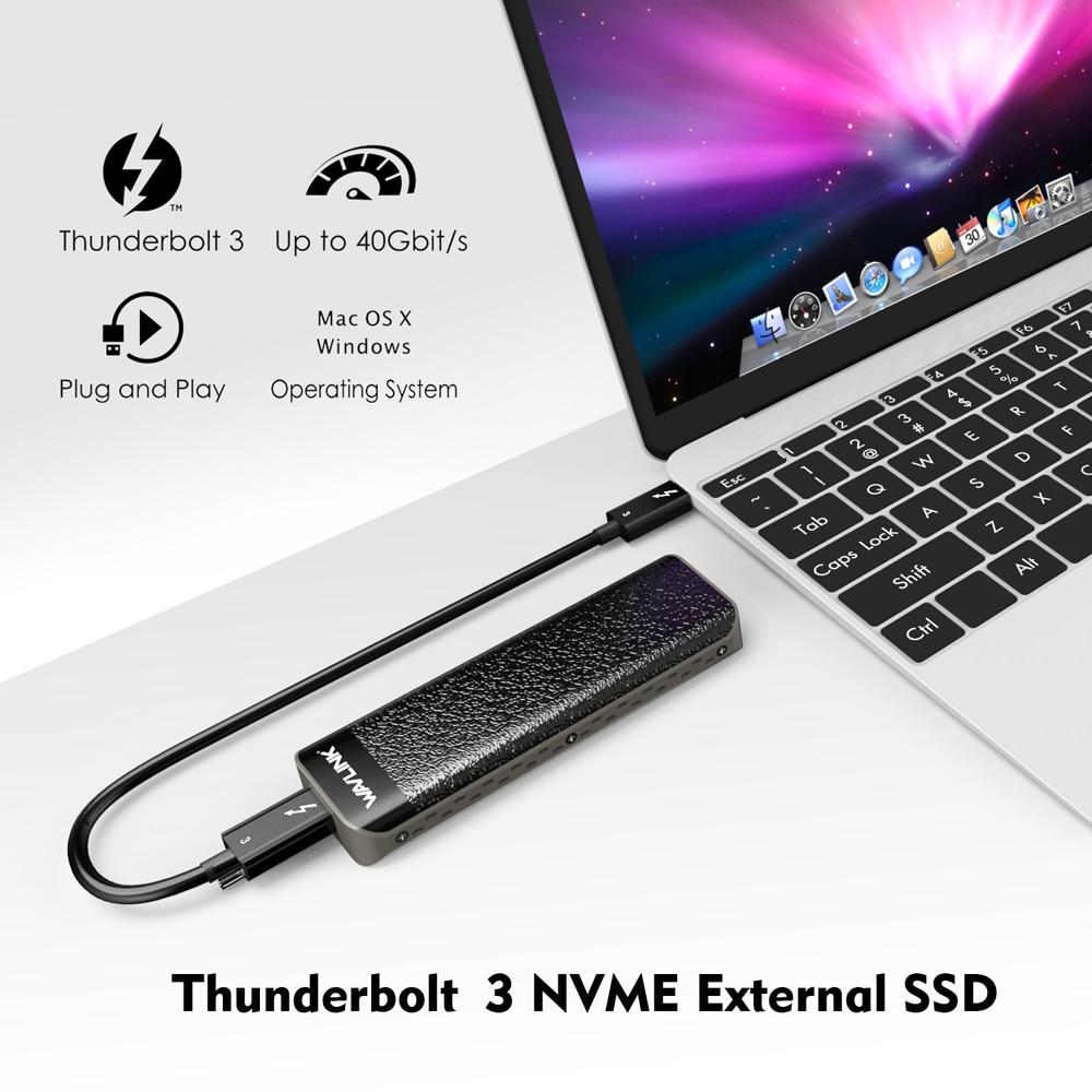 Intel Gecertificeerd Thunderbolt™3 Nvme Externe Ssd Usb Type C 40Gbps Uitstekende Dissipatie Voor Microsoft Windows & Mac Os Wavlink - 6