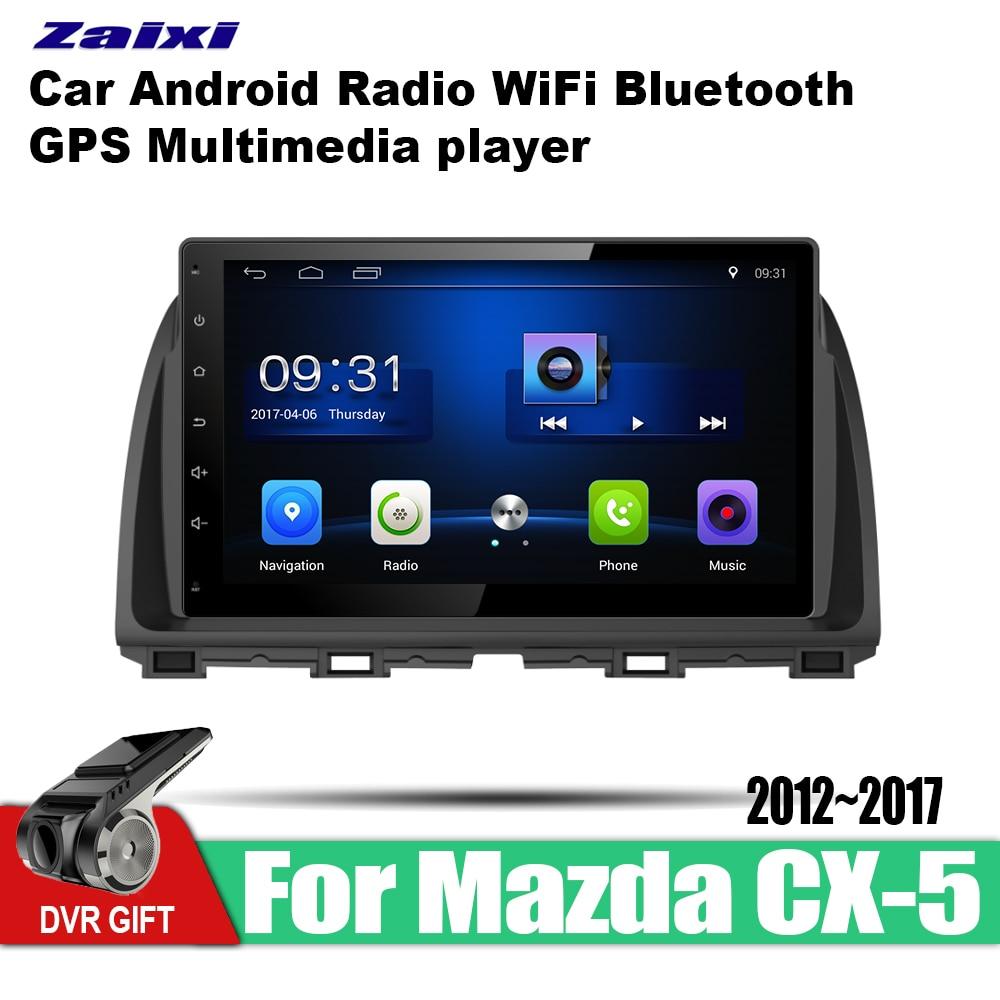 ZaiXi car gps multimedia player For Mazda CX 5 2012~2017 car Android navigation raido video audio player stereo audio wifi