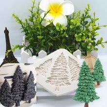 Рождественское Силиконовое украшение для торта, шоколада, десерта, кружева, сделай сам, дизайнерская форма для выпечки, помадки, резиновый к...