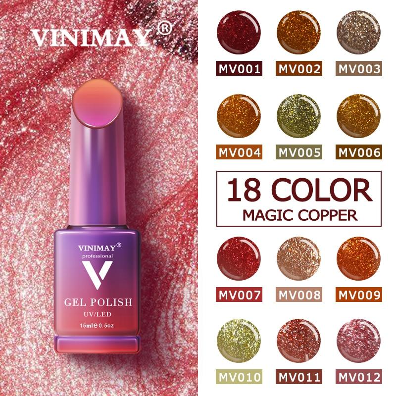 VINIMAY New Magic Copper Gel Nail Polish Varnish Nail UV Soak Off Gellak Gelpolish Nail Art Primer Manicure Nails Gel Lacque