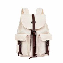 College Teenager Laptop Backpack Fashion Leisure Canvas Bagpack Unisex Casual Computer School Bag for Girls Satchel leisure women s satchel with canvas and colour matching design