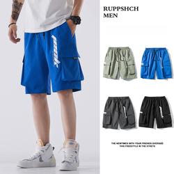 RUPPSHCH Men 2021 Summer New Casual All-match Tooling Pocket Shorts Men Loose Trend Sports Jacket Five-point Pants