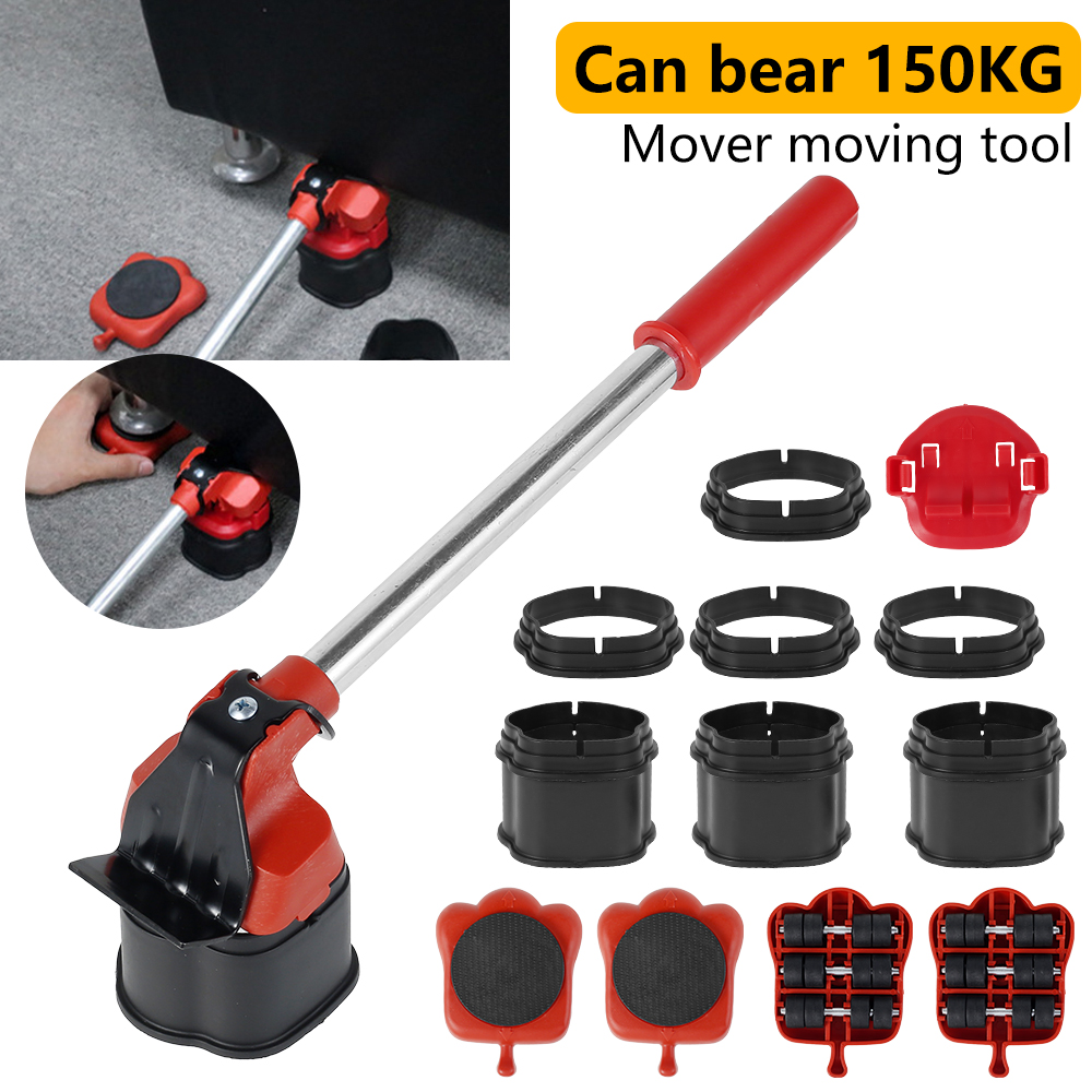 Furniture Shifter Lifter Mover Tools Set Heavy Duty Furniture Moving Tools Easy Moving Sliders Furniture Moving Roller Wheel Set