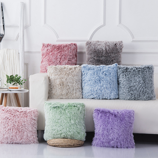 Soft Fur Pillows Case Plush Cushion Cover Home Decor Pillow Covers Living Room Bedroom Sofa Decorative Pillows Cover 43x43cm New 1