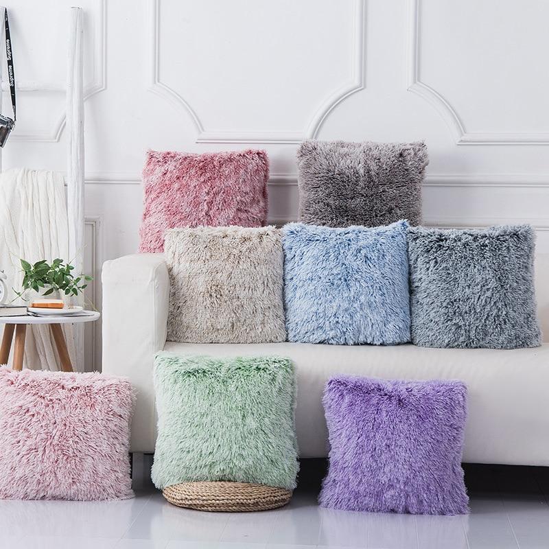 Soft Fur Pillows Case Plush Cushion Cover Home Decor Pillow Covers Living Room Bedroom Sofa Decorative Pillows Cover 43x43cm New