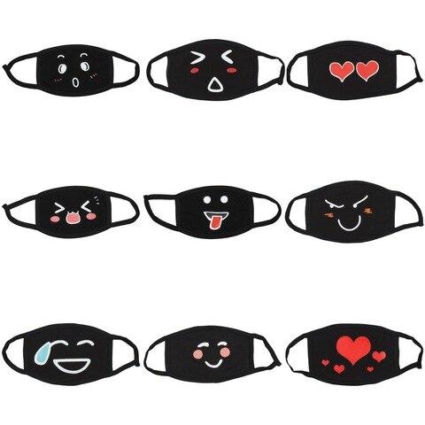 Poluição à Prova de Poeira Algodão dos Desenhos Reutilizável Anti Unisex Máscara Anime Animados Facial Dustproof Boca Pode Escolher Cores 9 Pçs Pm2.5