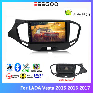 Essgoo For LADA Vesta 2015-2017 Car Radio 2 din Android 9.1 Car Stereo Bluetooth Autoradio 2din GPS Navigation Multimedia Player