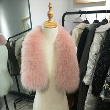 75cm Genuine Fox Fur Collar Scarf For Women Winter 100% Natural Real Skin Neck Warmer Custom Made