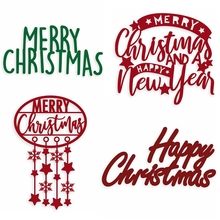 Christmas Phrases Metal Cutting Dies Xmas Die Cuts For Card Making DIY Scrapbooking New 2019 Embossed Crafts Cards