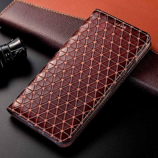マグネットナチュラル本革スキンフリップウォレットブック電話ケースカバー xiaomi redmi 4X 4A 5A 5 プラス 4 × 5 プラス 16/32 ギガバイト