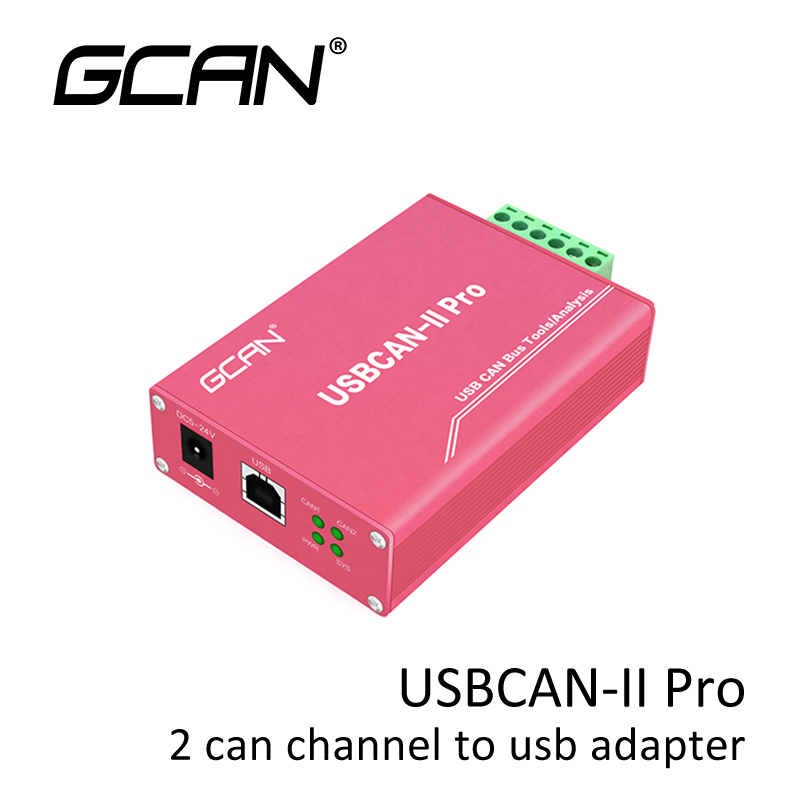 GCAN Usb Can Bus Adapter With 2 Can Channel Usb Can Bus Analyzer With Free Software For Vehicle Support OBD2 Protocol