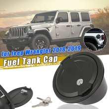 Для Jeep для Wrangler JL 20119 крышка бака с 2x ключом автомобильные масла крышка топливного бака крышка авто аксессуары