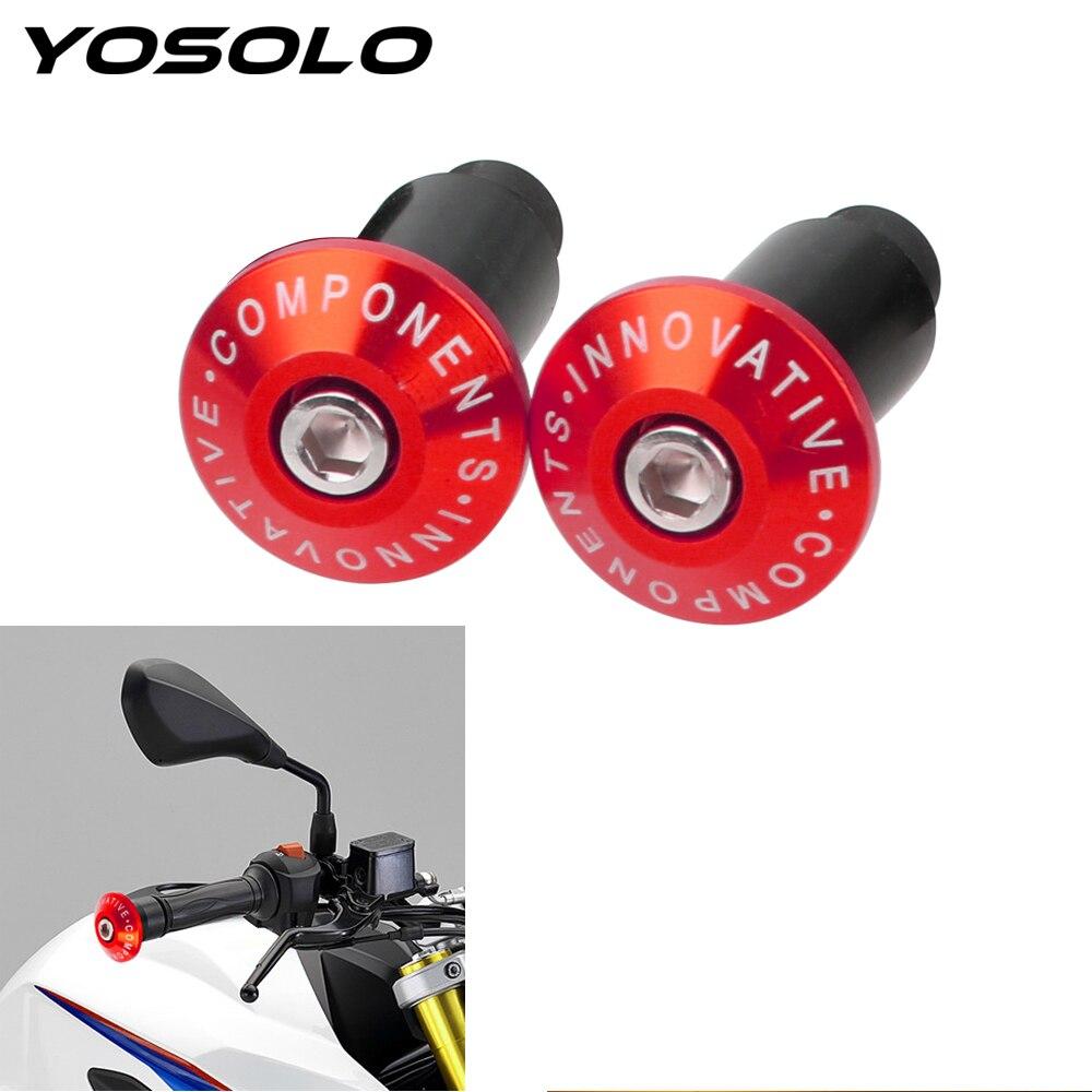 YOSOLO 1 Pair Motorcycle Handlebar Grip Ends  Weights Anti Vibration Silder Plug Universal Modified Handle Handle Plug