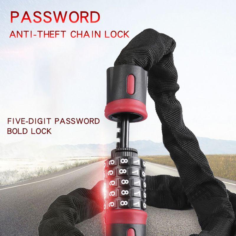 Motorcycle Universal Helmet Password Lock Multi-function Wire Lock Password Anti-theft Luggage BicycleWith Storage Bag