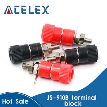 10 sztuk partia zaciski JS-910B 4mm wzmacniacz Terminal złącze wiążące Post wtyk bananowy Jack góra czarny 5 czerwony 5 tanie i dobre opinie ACELEX CN (pochodzenie) NONE