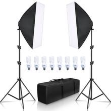 Комплект лайтбоксов для фотосъемки 8 шт. E27 Светодиодный светильник для студийной фотосъемки 2 софтбокса 2 светильник с сумкой для переноски