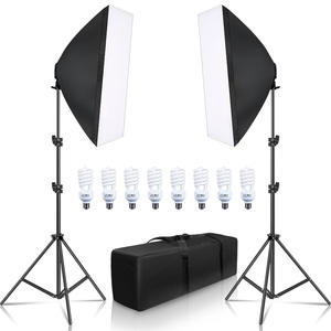 Lighting-Equipment Softbox Camera 2-Light-Stand Photo-Studio Photography LED with Carry-Bag