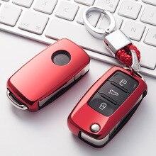 Odporna na zużycie miękka TPU obudowa kluczyka do samochodu dla volkswagena do VW Passat Golf Jetta Bora Polo Sagitar Tiguan nowa Auto klucz pokrywa keyless