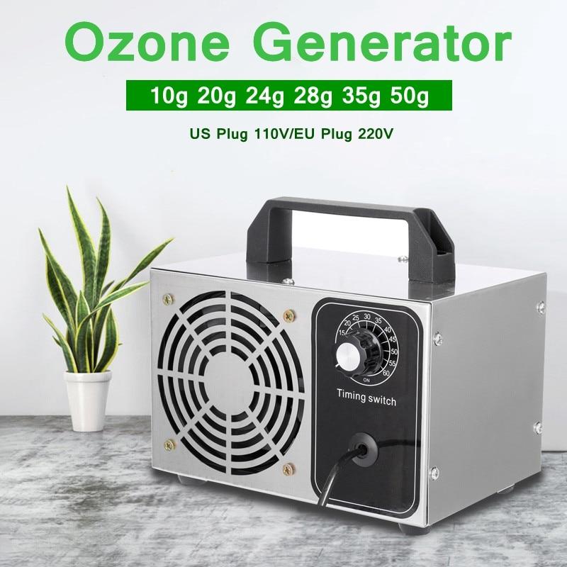 50g/h Professional Ozone Generator Air Purification Air Cleaner Water Deodorizer Sterilization Ozonator 220V/110V US EU Plug