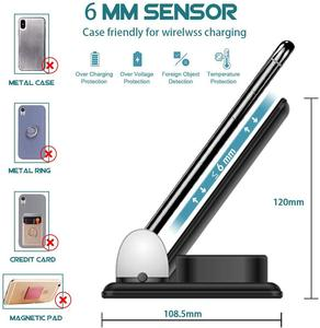 Image 5 - Беспроводное зарядное устройство DCAE 4 в 1, зарядная станция, светодиод Qi Fast 15 Вт для iPhone 11 Pro Max XS XR X 8 Airpods, Apple Watch 5 4 3 2