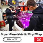 Film d'emballage de peinture métallique en vinyle métallique super brillant de la plus haute qualité - 5