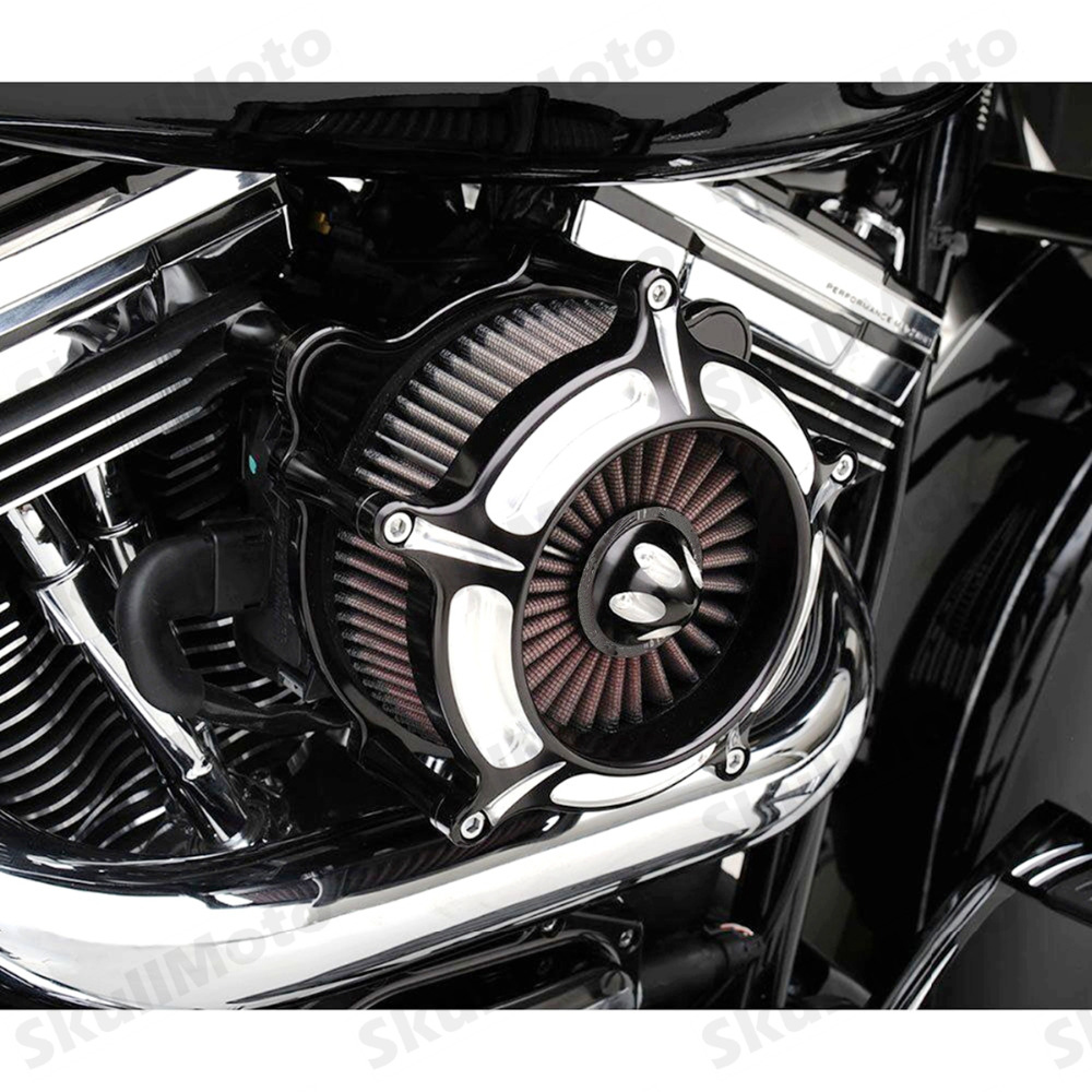 Motorcycle Air Filter Contrast Cut Turbine Air Cleaner Intake Filter For Harley Sportster XL883 1200 1991