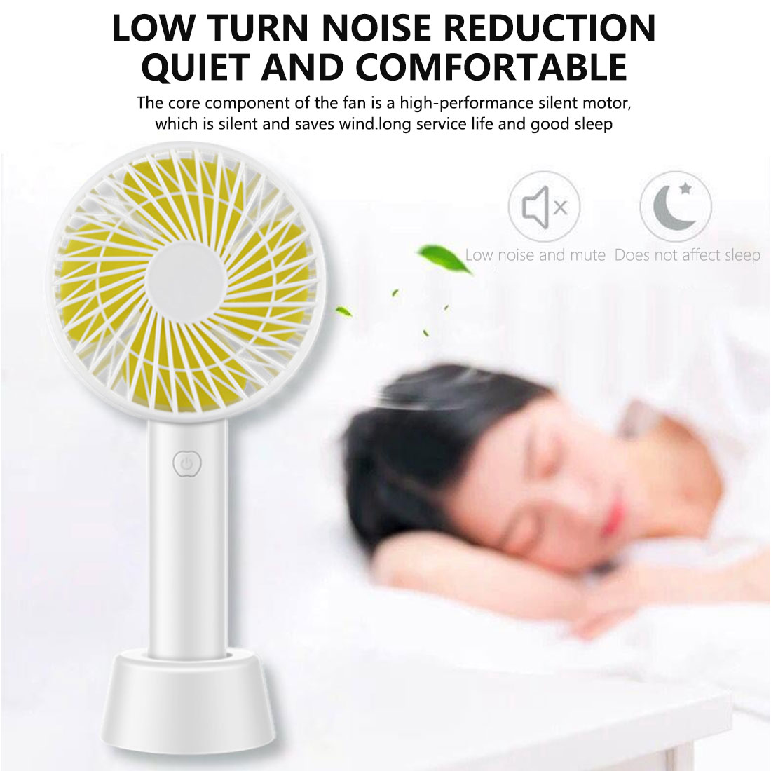 Hand Electric Fan Mini USB Fan Portable Handheld  Rechargeable Built-in Battery 1800mAH Handy Air Cooling Fan For Outdoor Home