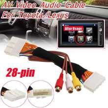 28 Pin AV видео аудио кабель для Toyota/Lexus Touch 2 и Entune OEM мониторы головных устройств для Renault& Dacia для Opel для Vauxhall