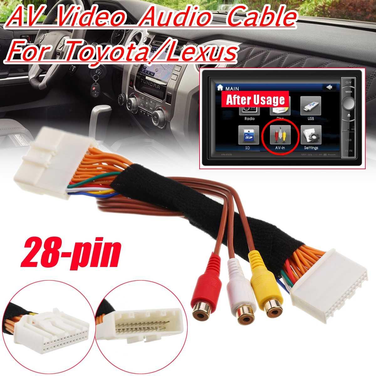Cable de Audio de vídeo AV de 28 pines para Toyota/Lexus Touch 2 y unidades de cabeza de monitores OEM Entune para Renault y Dacia para Opel para auxhall